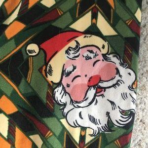 LuLaRoe Pants - Festive LulaRoe Santa Leggings